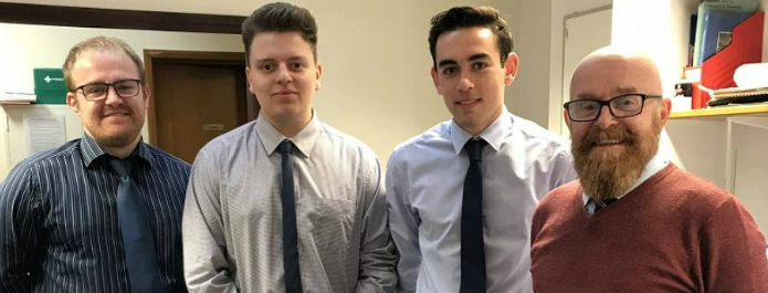 Local Engineering Company take on two college apprentices