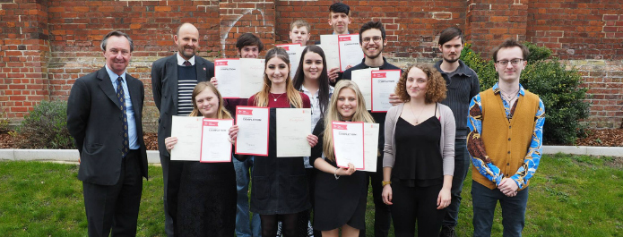 Prince's Trust 'Team 36' students celebrate after completing course