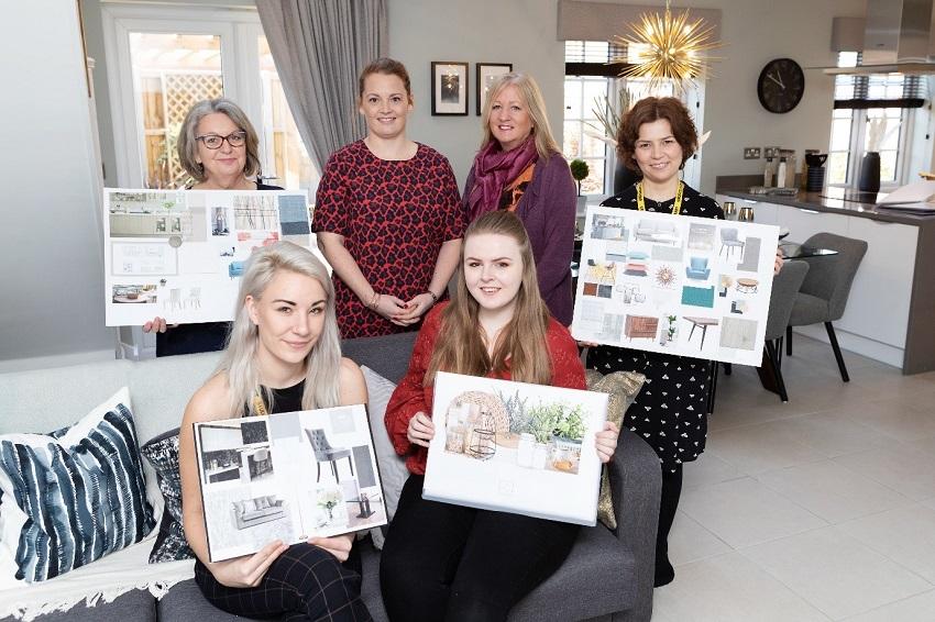 Interior Design Degree Students Present Work To Bloor Homes