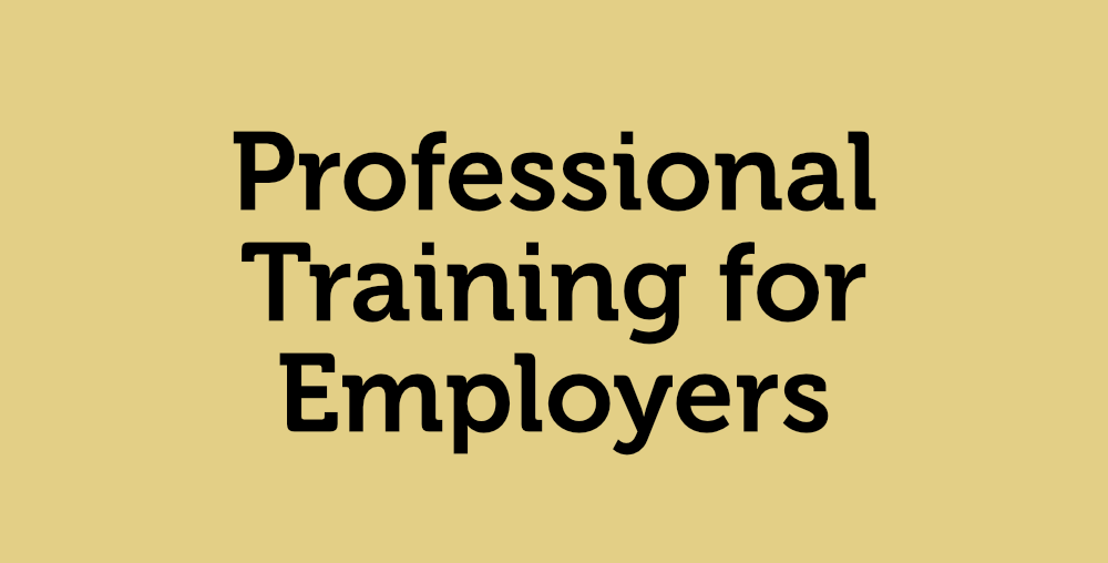 Professional Training for Employers