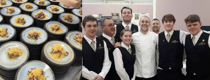 Cheltenham 2019: Hospitality and cookery students work in Chez Roux restaurant