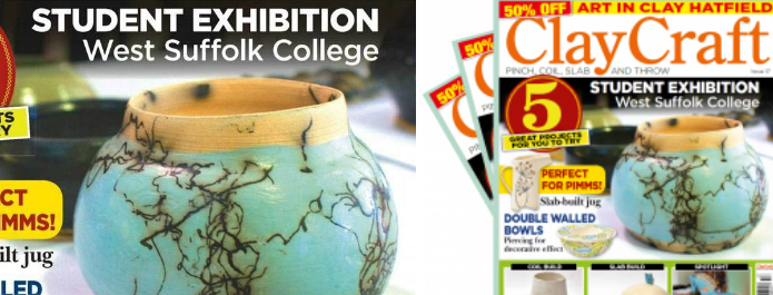 Pottery exhibition featured in industry magazine