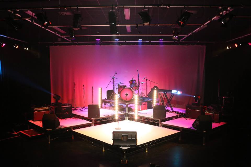 Stage setup for Girl Power show