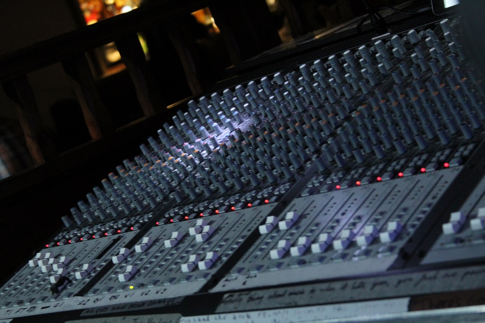 The Live sound desk