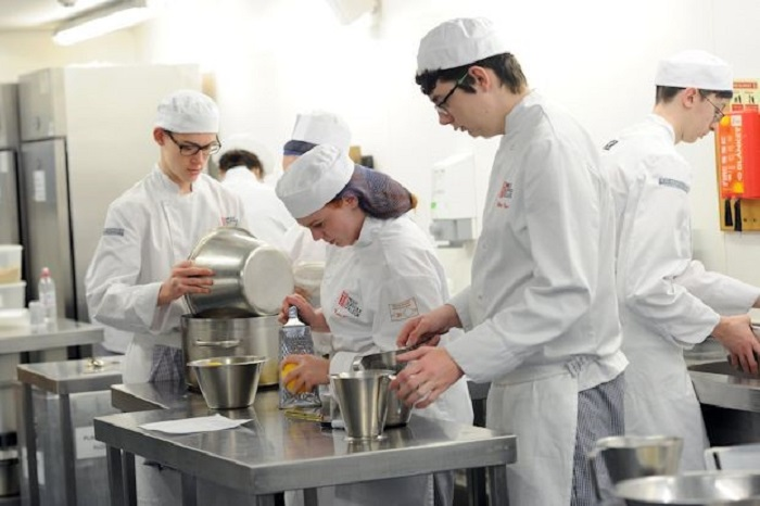 students take over tuddenham mill kitchen 2