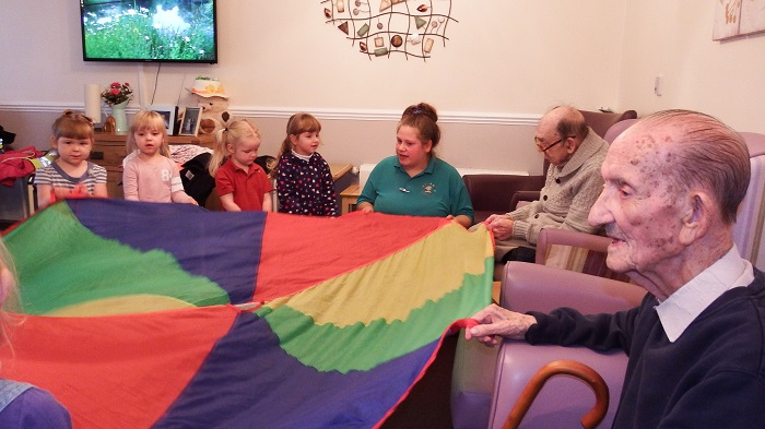 tiny tots sing for elderly