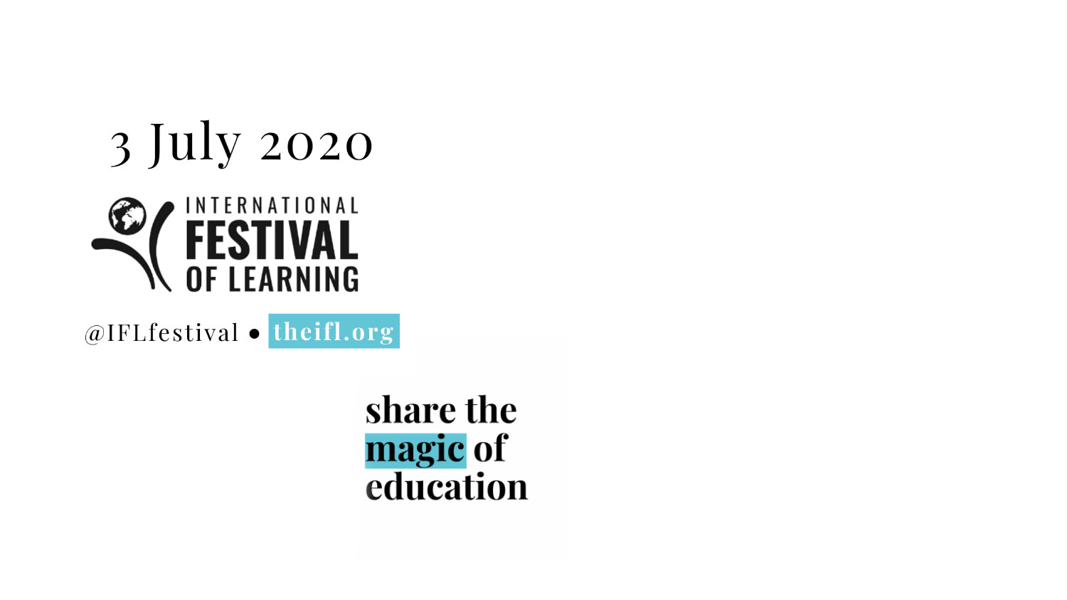 Buy tickets for International Festival of Learning 2020