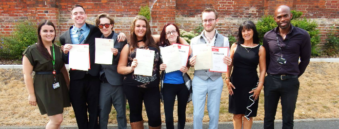 Students celebrate achievements after completing Prince's Trust course