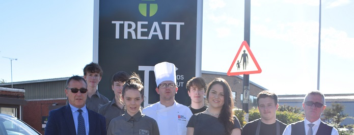 Culinary students at West Suffolk College tickle the taste buds of Treatt employees